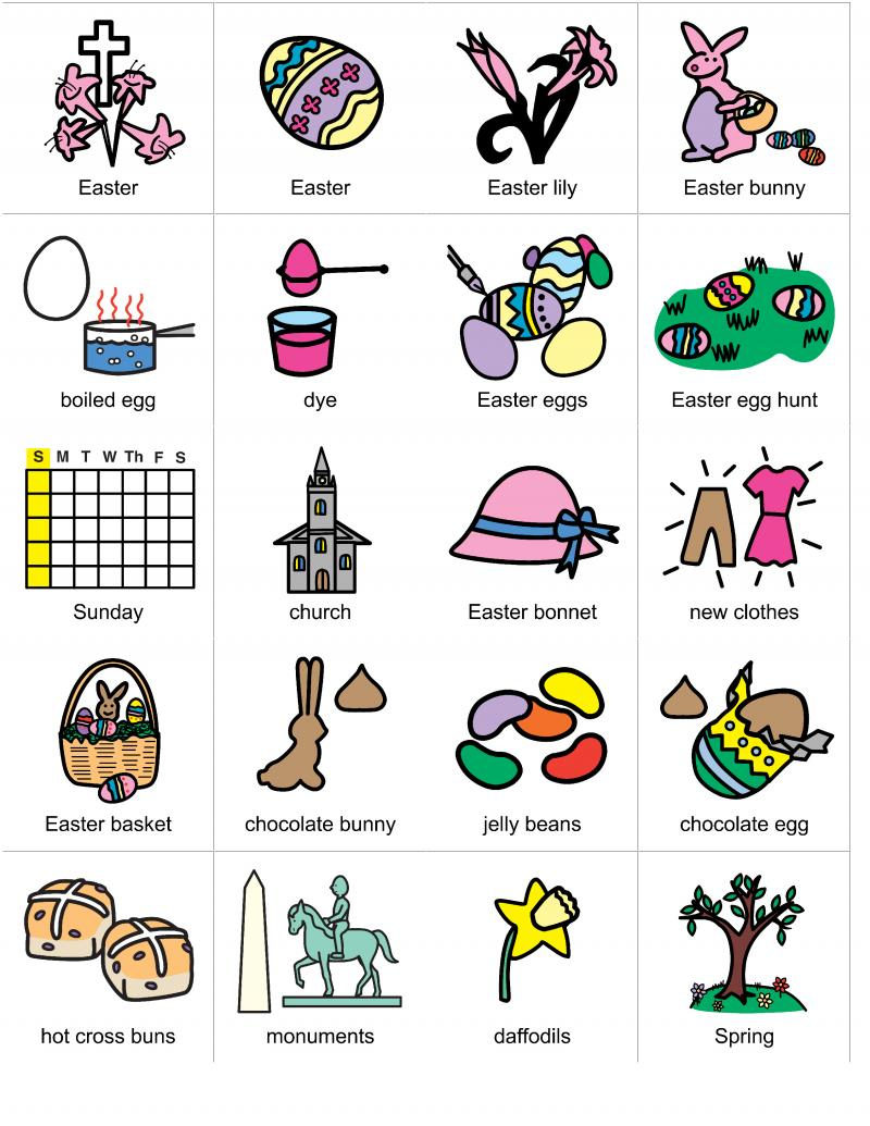 Living Well With Autism Easter Picture Cards And Resources