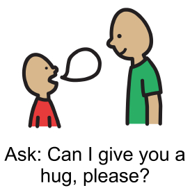 Ask for a hug