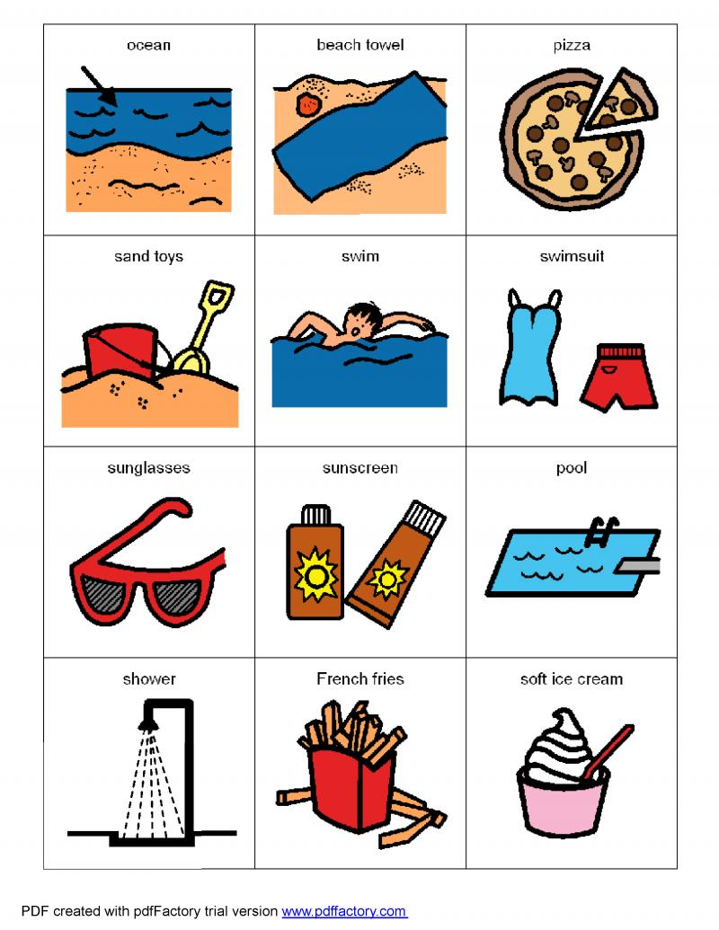 simple beach board symbols