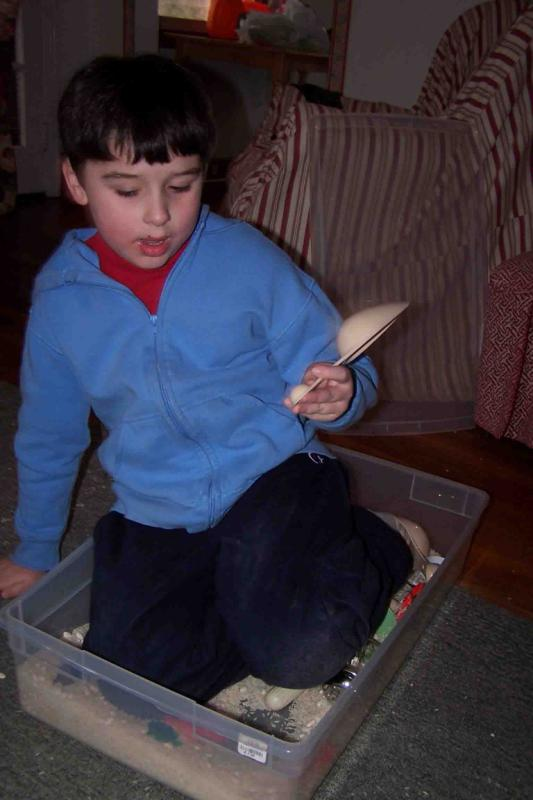 William in the rice and beans box