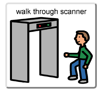 walk through scanner